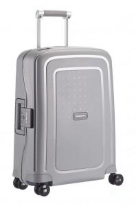 Samsonite Kabinový cestovní kufr S'Cure Spinner 10U 34 l – stříbrná