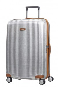 Samsonite Cestovní kufr Lite-Cube DLX Spinner 82V 96 l – stříbrná