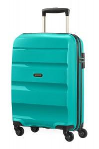 American Tourister Kabinový cestovní kufr Bon Air Spinner 85A 31,5 l – tyrkysová