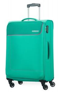 American Tourister Cestovní kufr Funshine Spinner 20G 63,5 l – zelená