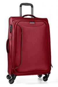 March Střední cestovní kufr Delta 69 l – červená