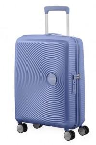 American Tourister Kabinový cestovní kufr Soundbox Spinner EXP 32G 35,5/41 l – levandulová