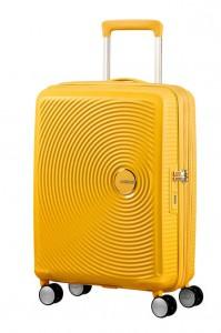 American Tourister Kabinový cestovní kufr Soundbox Spinner EXP 32G 35,5/41 l – golden yellow
