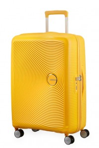 American Tourister Cestovní kufr Soundbox Spinner EXP 32G 71,5/81 l – golden yellow