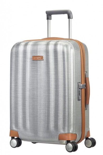 Samsonite Kabinový cestovní kufr Lite-Cube DLX Spinner 82V 43,5 l – stříbrná