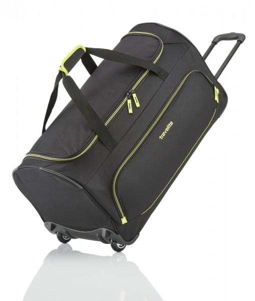 Travelite Cestovní taška Basics Fresh Wheeled Duffle Black 89 l