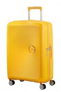 American Tourister Cestovní kufr Soundbox Spinner EXP 32G 97/110 l – golden yellow