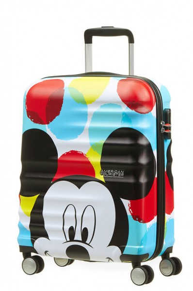 American Tourister Kabinový cestovní kufr Wavebreaker Disney Spinner 31C 36 l – Mickey Close-Up