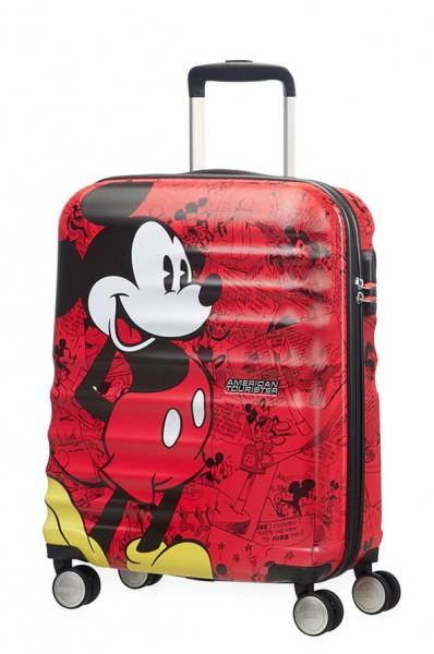 American Tourister Kabinový cestovní kufr Wavebreaker Disney Spinner 31C 36 l – Mickey Comics Red