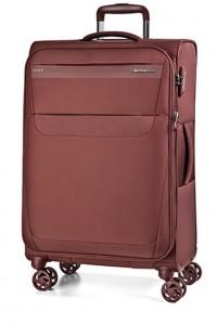 March Cestovní kufr Aeon 104/121 l – tmavě červená