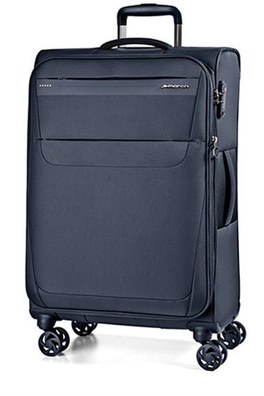 March Cestovní kufr Aeon 104/121 l – tmavě modrá