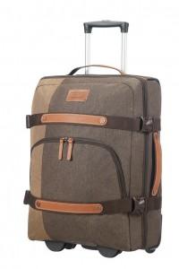 Samsonite Cestovní taška na kolečkách Rewind Natural 45 l – šedá