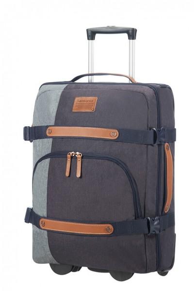Samsonite Cestovní taška na kolečkách Rewind Natural 45 l – modrá