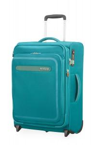 American Tourister Kabinový cestovní kufr AirBeat Upright EXP 45G 43/48 l – tyrkysová