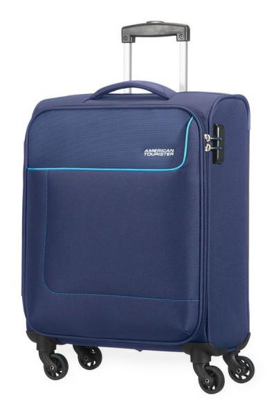 American Tourister Kabinový cestovní kufr Funshine Spinner 20G 36 l – tmavě modrá