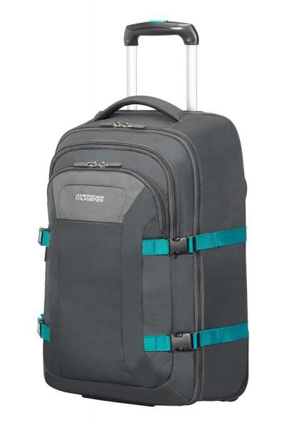 American Tourister Cestovní kufr Instago Spinner 54G 98,5 l 15.6″ – šedá/světle modrá