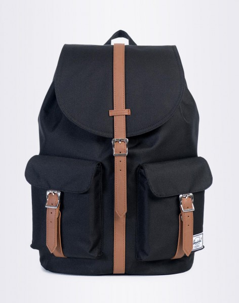 Batoh Herschel Supply Dawson Black/Tan Synthetic Leather