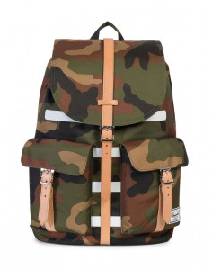 Batoh Herschel Supply Dawson Woodland Camo Stripe / Veggie Tan Leather