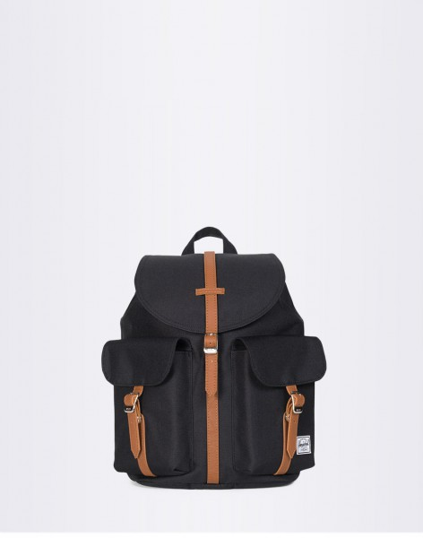 Batoh Herschel Supply Dawson X-Small Black / Tan Synthetic Leather