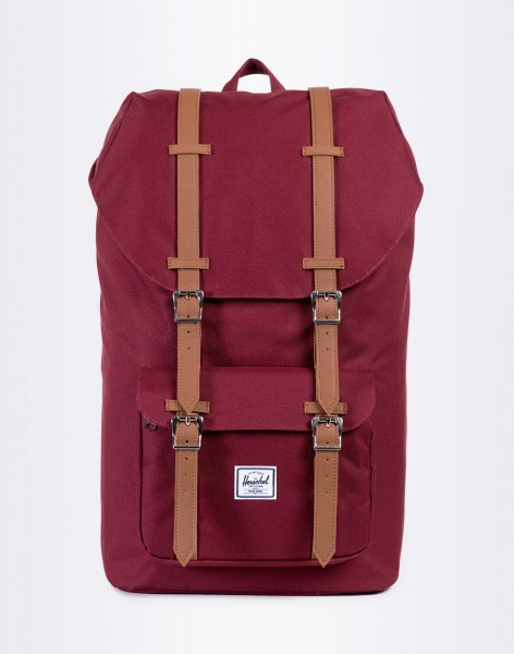 Batoh Herschel Supply Little America Windsor Wine/Tan Synthetic Leather