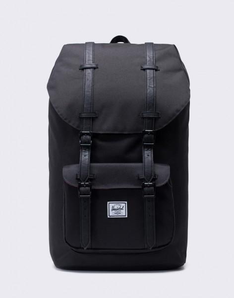 Batoh Herschel Supply Little America Black/Black Synthetic Leather 25l