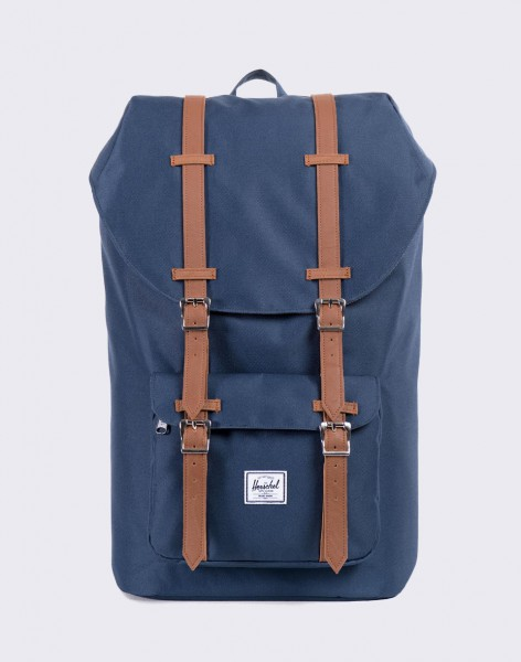Batoh Herschel Supply Little America Navy/Tan Synthetic Leather 25l