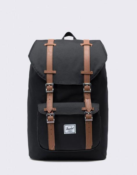Batoh Herschel Supply Little America Mid-Volume Black/Tan Synthetic Leather 17l