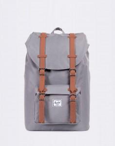 Batoh Herschel Supply Little America Mid-Volume Grey/Tan Synthetic Leather