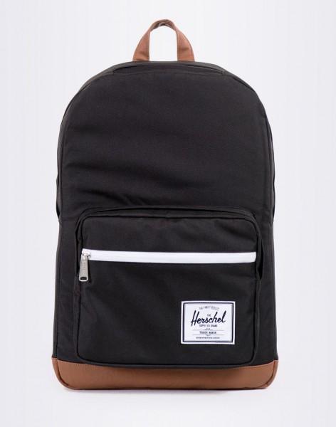 Batoh Herschel Supply Pop Quiz Black/Tan Synthetic Leather