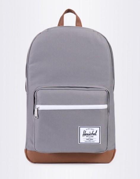 Batoh Herschel Supply Pop Quiz Grey/Tan Synthetic Leather