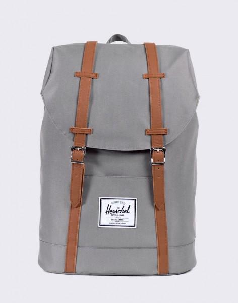 Batoh Herschel Supply Retreat Grey/Tan Synthetic Leather 19,5l