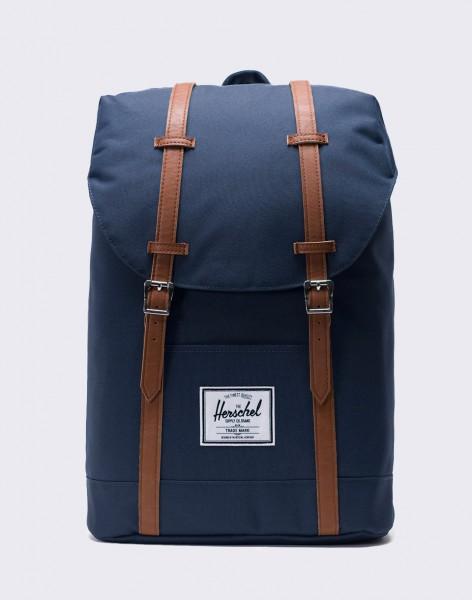 Batoh Herschel Supply Retreat Navy/Tan Synthetic Leather 19,5l