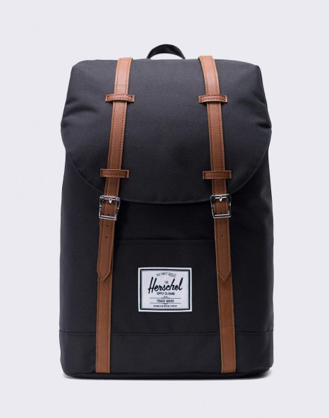 Batoh Herschel Supply Retreat Black/Tan Synthetic Leather 19,5l
