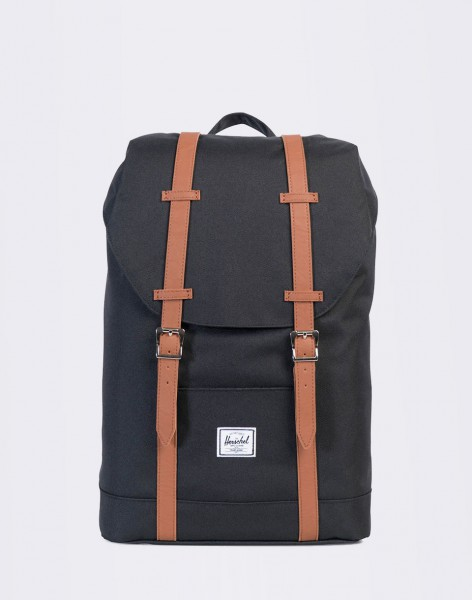 Batoh Herschel Supply Retreat Mid-Volume Black/Tan Synthetic Leather