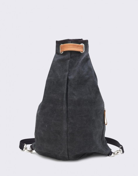 Batoh Qwstion Simple Bag Washed Black
