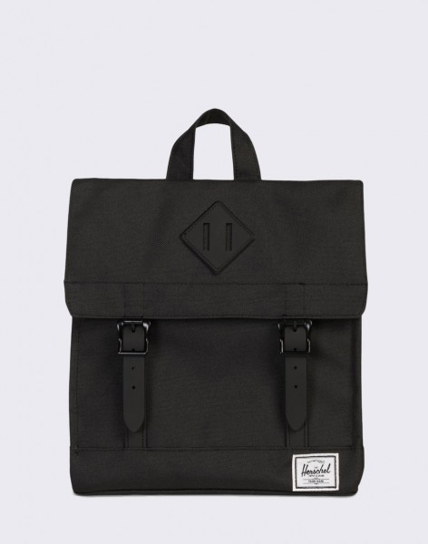 Batoh Herschel Supply Survey Kids Black/Black Rubber