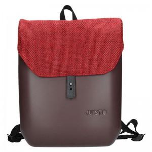 Dámský trendy batoh Ju'sto J-Back – hnědo-červená