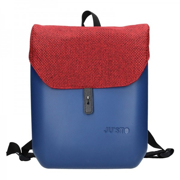 Dámský trendy batoh Ju'sto J-Back – modro-červená