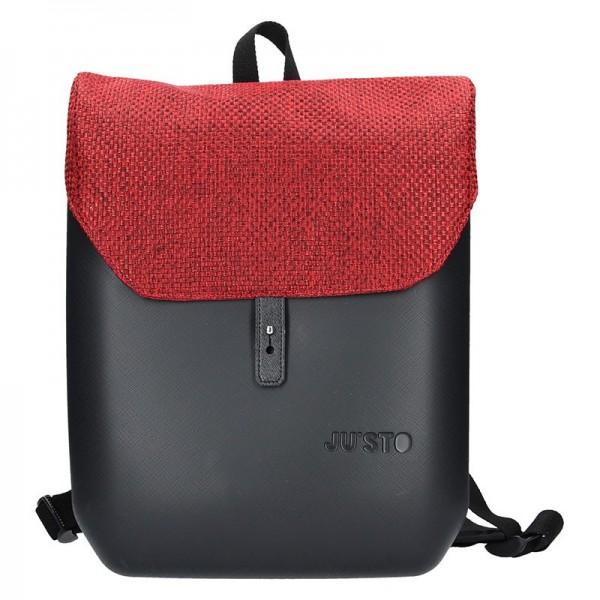 Dámský trendy batoh Ju'sto J-Back – černo-červená