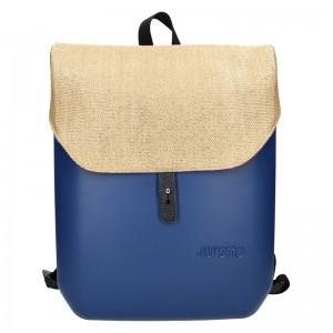 Dámský trendy batoh Ju'sto J-Back – modro-béžová