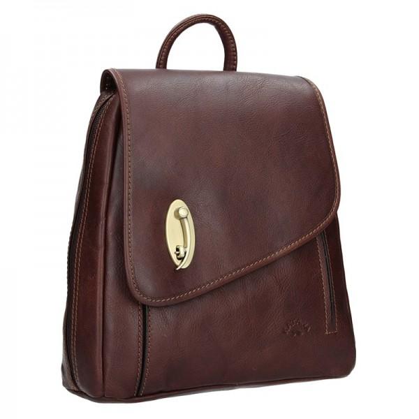 Elegantní dámský kožený batoh Katana Nora – tmavě hnědá
