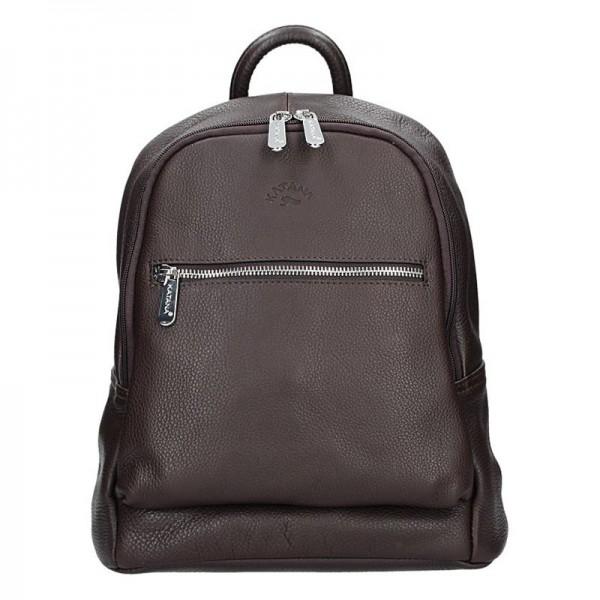 Dámský kožený batoh Katana 83819 – hnědá
