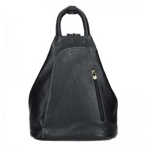 Elegantní dámský kožený batoh Katana Paula – černá