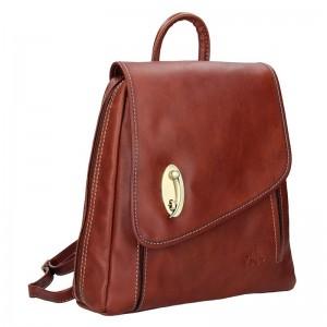 Elegantní dámský kožený batoh Katana Nora- hnědá