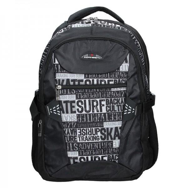 Moderní batoh Enrico Benetti 47127 – černá