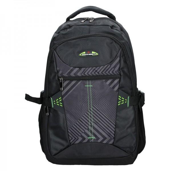 Moderní batoh Enrico Benetti 47093 – černo-zelená