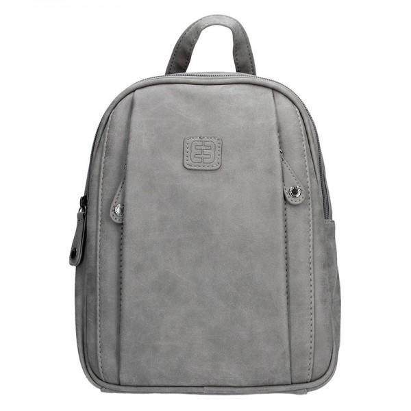 Moderní ekokožený dámský batoh Enrico Benetti 66169 – šedá