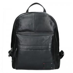 Pánský kožený batoh Lerros Maxim – černá