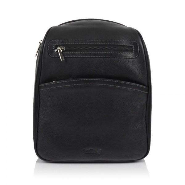 Dámský kožený batůžek SendiDesign 786 – černá