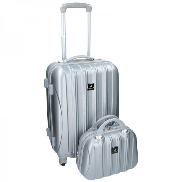 Sada dvou cestovních kufrů Madisson Travel – stříbrná